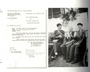 Aus Baienfurter Heimatbuch, Wiederanfang des Liederkranz (01.02.1947)