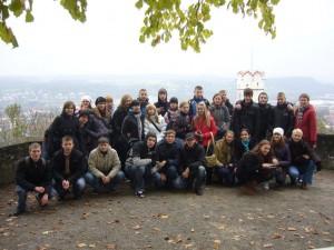 Die Brester Schüler bestaunen die Veitsburg in Ravensburg (P1320593)